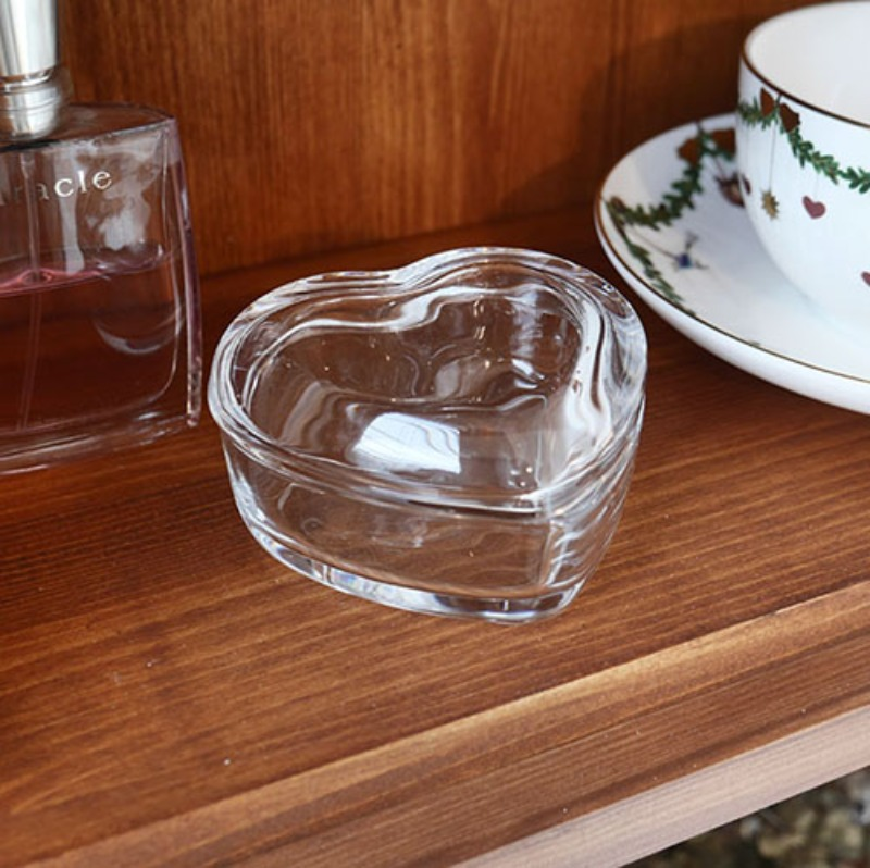 heart mini glass box