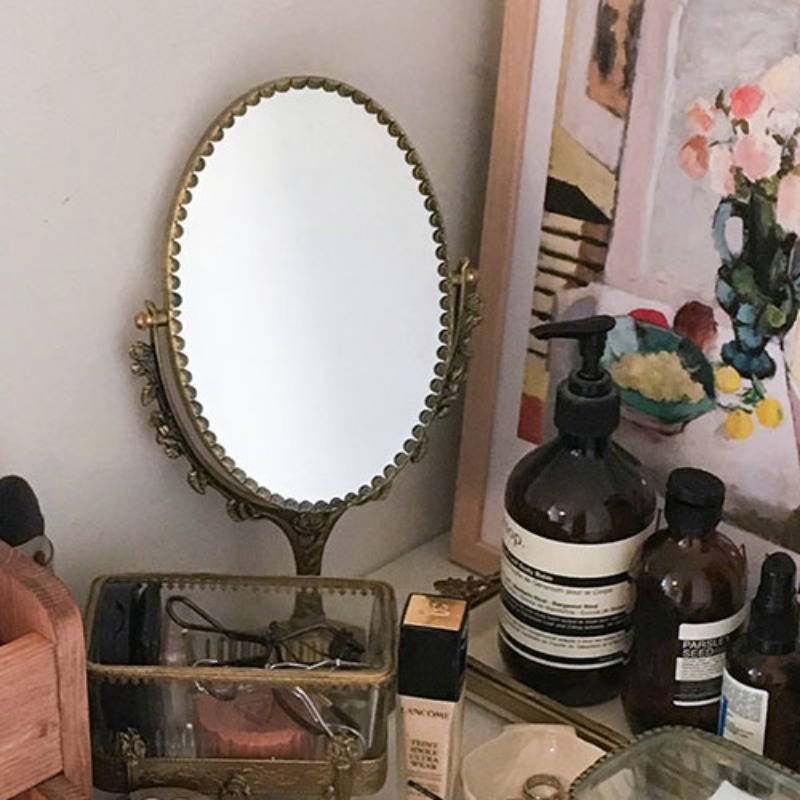 Antique stand mirror(big size)