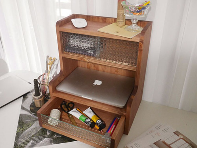 Handmade Desk storage